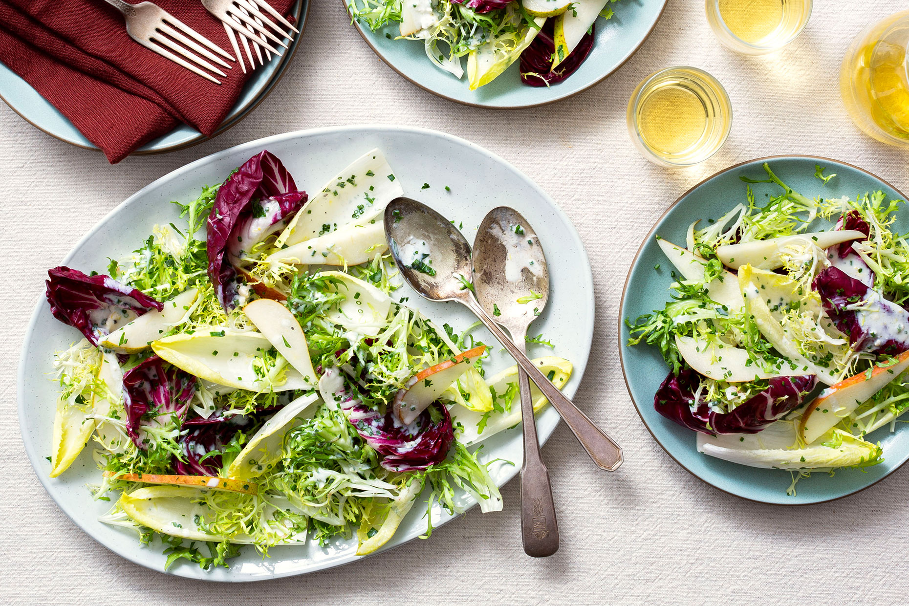 Pear-Bitter-Greens-Salad